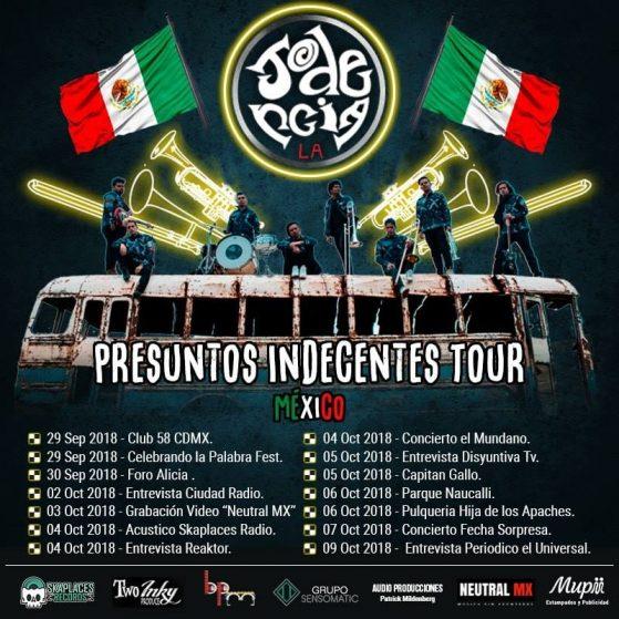 la jodencia gira mexico 2018 fechas